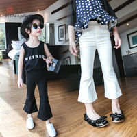 High Quality Hot sale Baby girls pants Fashion Casual children's clothes Girl's trousers Boot Cut Ankle-length Pant Kids wear