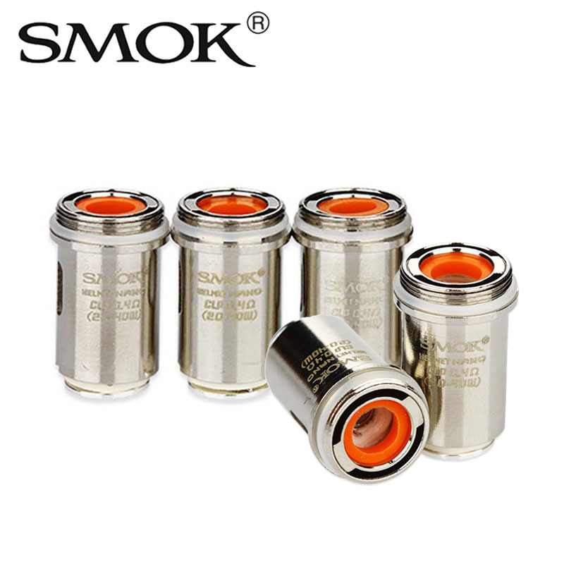 5pcs SMOK Helmet Nano Clapton Coil 0.4ohm/0.6ohm Atomizer Head for OSUB Mini/One & 40W Guardian Pipe Kit Fused Clapton Dual Core ...