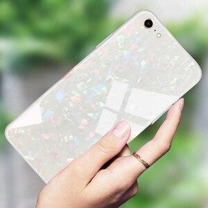 Image 4 - Suntaiho Étuis de Téléphone pour iPhone X 10 Boîtier En Verre Trempé Marbel Couverture Arrière pour iPhone 8 7 6 Plus Étui antidétonantes Étui Ajusté