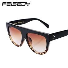 FEISEDY Cat Eye Sunglasses Woman Brand Design Gafas De Sol Flat Top Mirror Sun Glasses For Women Lunettes Oculos De Sol Feminino