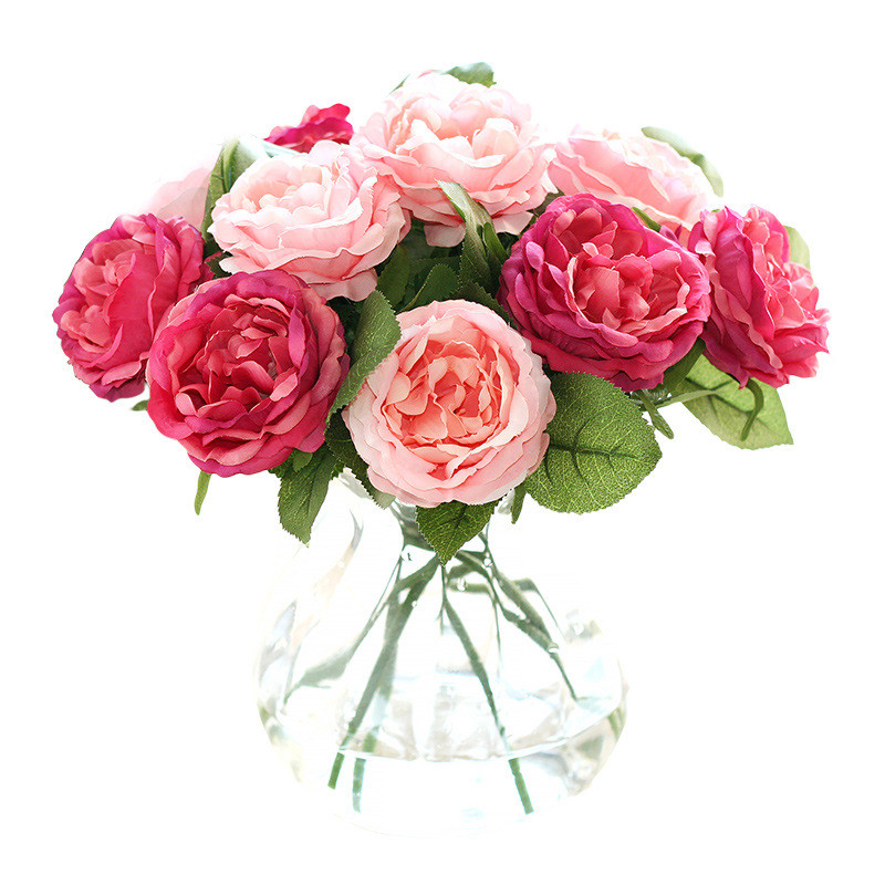 Night Rose Artificial Flower Fake Home Decoration Wedding Bookstore Cafe Garden Background Floral