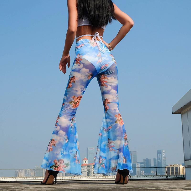 2019 Street Fashion People Women Micro-la Pants Casual Boot Cut