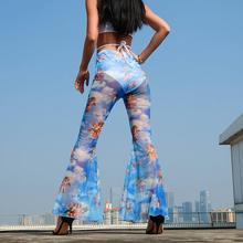купить!  2019 Уличная мода Люди Женщины Микро-ла Брюки повседневные брюки Cut Boot Cut Лучший!