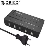 ORICO DCH-5U 5 Ports Desktop USB Fast Charger 5V 6A Max 30W for iPhone 6s / 6 / 6 plus iPad Android Samsung Tab Galaxy S6 Black