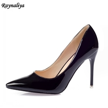 Brand Luxury Designer Wedding Thin Heels Women 9cm Pumps Patent Leather Pointed Toe High Heel Pumps Shoes Big Size XZL-A0001 5cm 7cm 9cm designer genuine leather shoes women fashion bow thin high heel party shoes sexy pointed toe pumps shoes xzl a0026