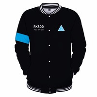 Detroit: Become Human Connor Baseball Uniform Men Women RK800 Kara AX400 Baseball Sweatshirt Autumn Winter Jackets Coat XXS 4XL