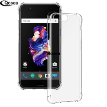 Leather Case For Oneplus 5 A5000 Transparent Ultra Clear Slim Soft Silicone TPU Skin For Oneplus5 5 Airbag Protective Back Cover