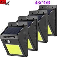 A2  outdoor Solar light 48COB LED Waterproof Motion Sensor lighting 3.7V 14W  Wall garden Street Yard Path Home Fenc