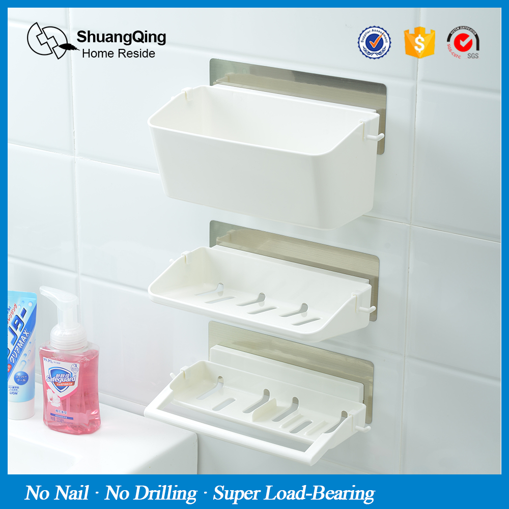 3 Layer White For Bathroom Holder&Shelves WC Plastic Wall Mounted ...