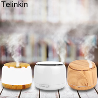 250ml Wood Grain Aroma Diffuser Ultrasonic Humidifier For Home With 7 Color Lamps Essential Oil Diffuser