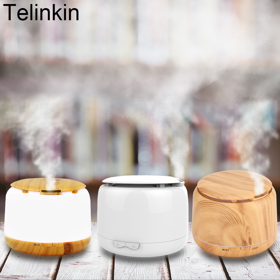 TELINKIN 250ml Aroma Essential Oil diffuser Ultrasonic Humidifier Electric Aroma Diffuser with 7Color LED lights for office home