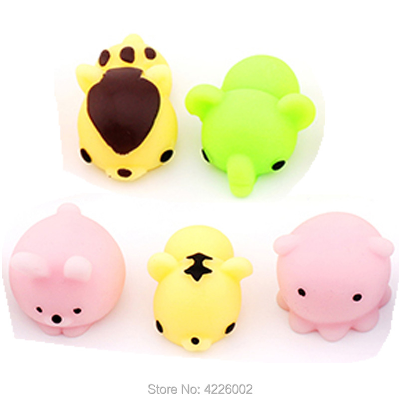 Купить с кэшбэком 30pcs Squishy Squeeze Mochi Cat Squichy Antistress Squishes Fun Squishies Kawaii Animals Set Anti stress Funny Toys for Children