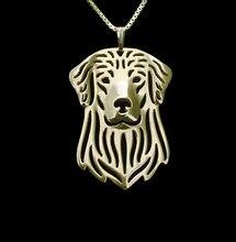 Оптовая продажа ожерелье золотистого ретривера из сплава в стиле