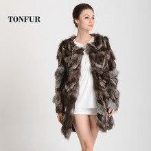 Princess silver fox fur coat women's medium-long quality fox fur overcoat TF0311 цена в Москве и Питере