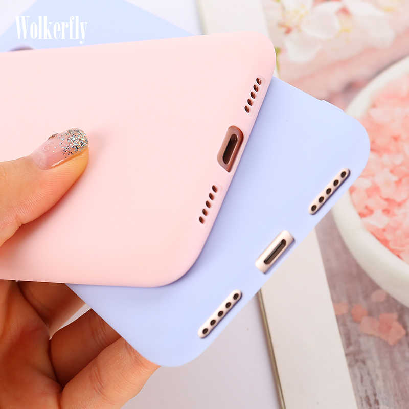 Candy Color Case for Xiaomi Redmi Note 7 6 6A 5A Redmi K20 Pro Soft TPU Cover for Xiaomi Mi 9T 9 SE 8 Lite 6X A2 A1 5X 6 Case