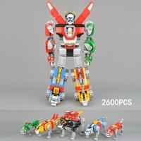 2018 новый классический супер робот Voltron building block Лев 5in1 трансформации кирпичи 21311 игрушки коллекции для подарков