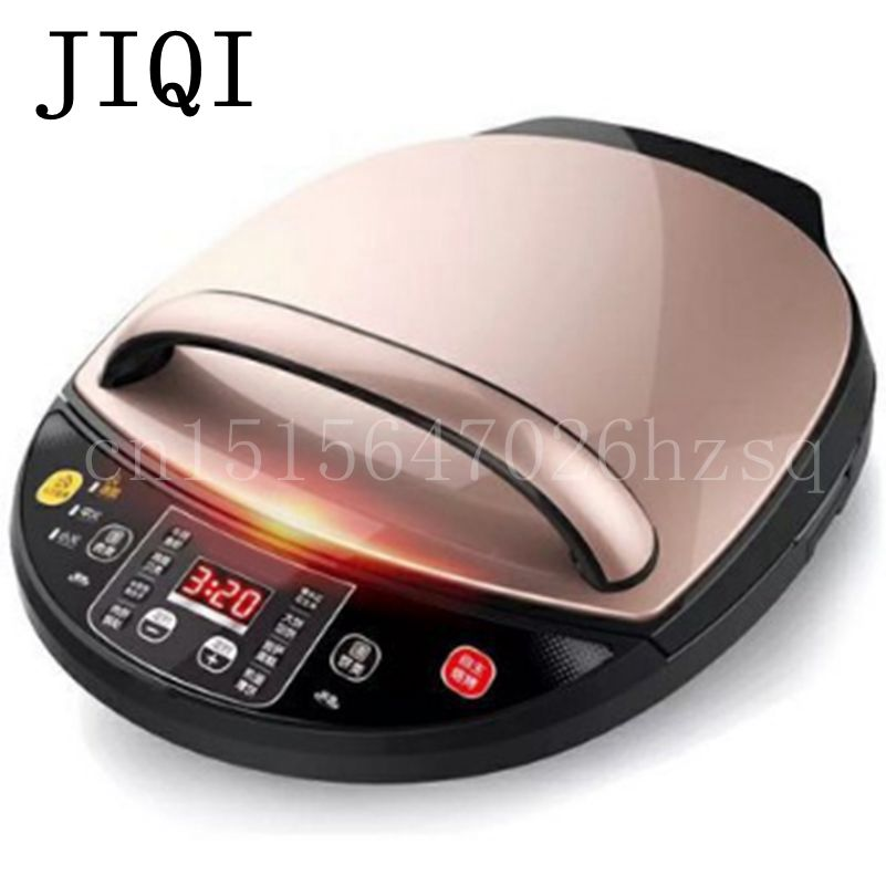 JIQI Automatic Double Heating Pancake Makers Household Electric Baking Pan Pancake Machine kitchen helper household product plastic dustbin mold makers