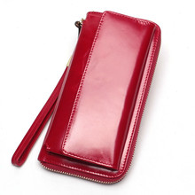 2019 Brand Vintage Wallet Female Luxury Cow Leather Business Unisex Handbag Coin Purse Card Holders Clutch Genuine Leather Pouch