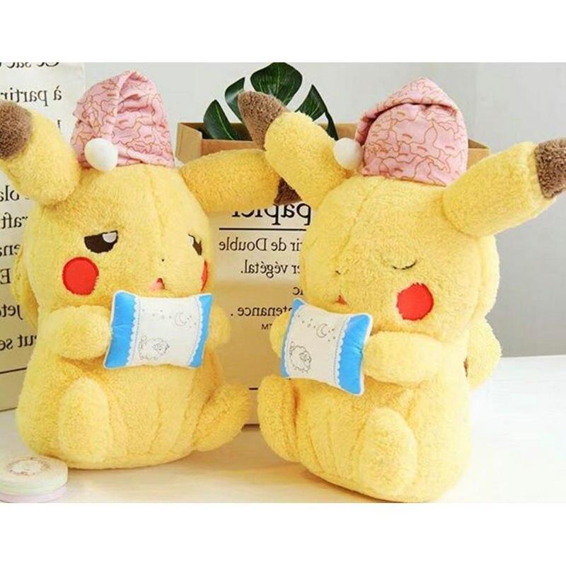 Sammeln & Seltenes Rosa Hut Pikachu Plüsch Spielzeug Für Kinder Halb Blink Pikachu Mit Candy Kissen Japan Monster Anime Spiel Puppen Monster Poke