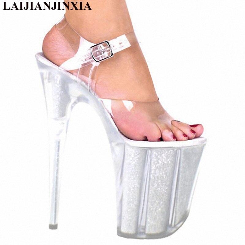 Sexy Verano Mujer Etapa La Noche Plataforma Ultra Cm Del Zapatos Toe Peep Club Nuevas 20 De Sandalias Tacón Laijianjinxia 2018 Boda Claro Alto Bombas XqZTw1tU