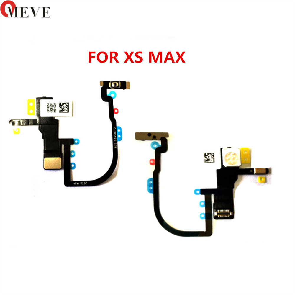 Original New Power on/off Switch Connector On Off Flex Cable Ribbon Mobile Phone Replacement Parts For iphone XR XS Max