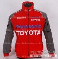 F1 automóvel Toyota F1 ternos de moda acolchoado jaqueta logotipo bordado casacos