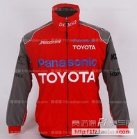 F1 Automobile Toyota F1 Fashion Suits Padded Jacket Embroidered Logo Coats