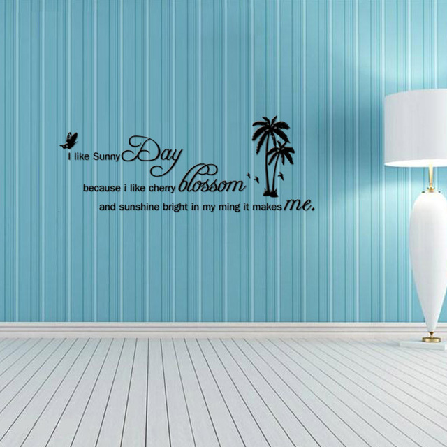 sunny day home office. I LIKE SUNNY DAY Quotes DIY Wall Sticker For Bedroom Living Rooms Home Decor Office Stickers Sunny Day N