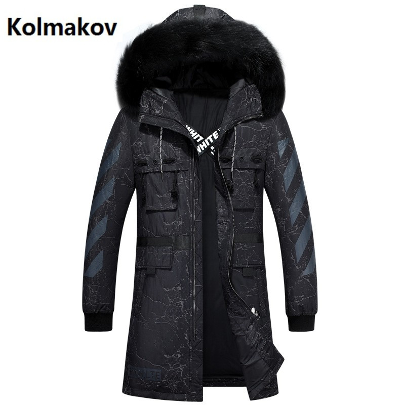 KOLMAKOV 2017 men fashion casual coats Mens Hooded keep warm thicken 90% White duck down Down Coats jacket Mens Winter jackets