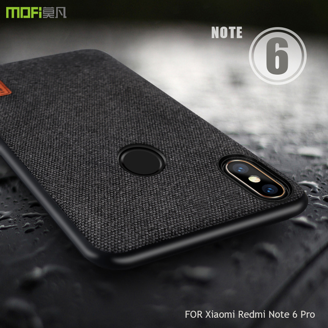 new concept 2ac5d d4487 US $8.69 13% OFF|for xiaomi redmi note 6 pro case cover MOFI For Xiaomi  note 6 global Back Fabric Case note 6 Soft edge Full Cover frosted Case-in  ...