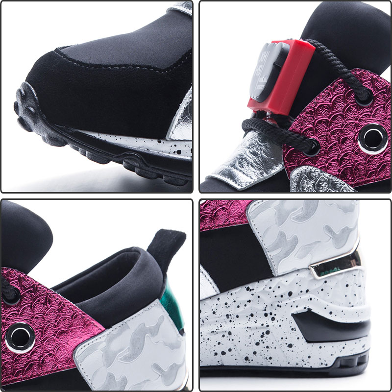 Black Causalité Femmes Fanyuan Cuir Couleur Automne Dentelle Up Plates Daim De caise Mélangée En Vache Chaussures Lady Sneaker j4AL3R5