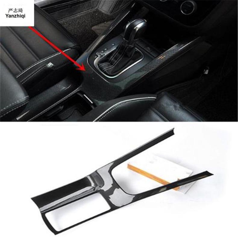 1 pc voiture autocollants en fibre de carbone ABS matériel panneau d'engrenage et verre à boire décoration couverture pour 2009-2017 Volkswagen VW Scirocco