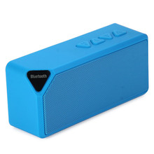 X3 Mini Multi-Color Flash LED Light Wireless Bluetooth Speaker with Built-in Microphone Support USB AUX FM Radio TF Card