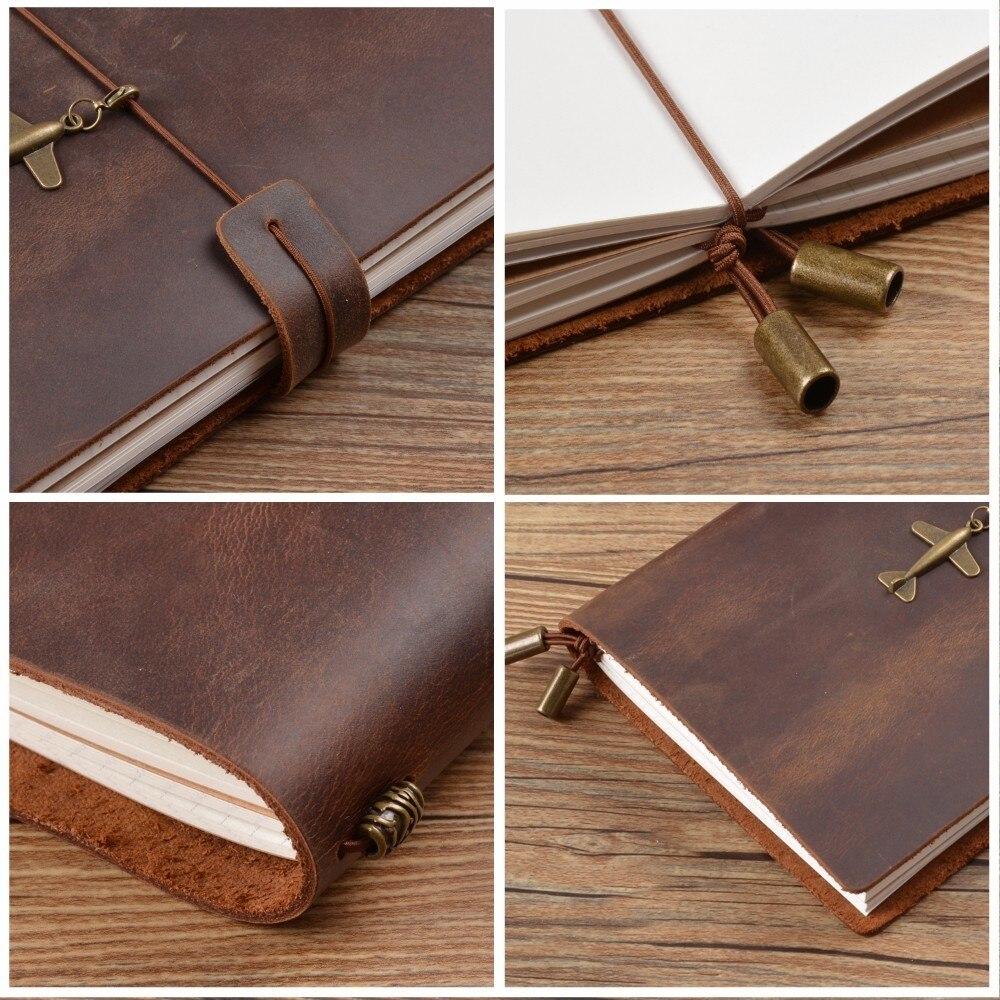 Image 4 - Handnote Genuine Leather Spiral Notebook Daily Planner Handmade Vintage Agenda Sketchbook Personal Diary Passport Bullet JournalNotebooks   -