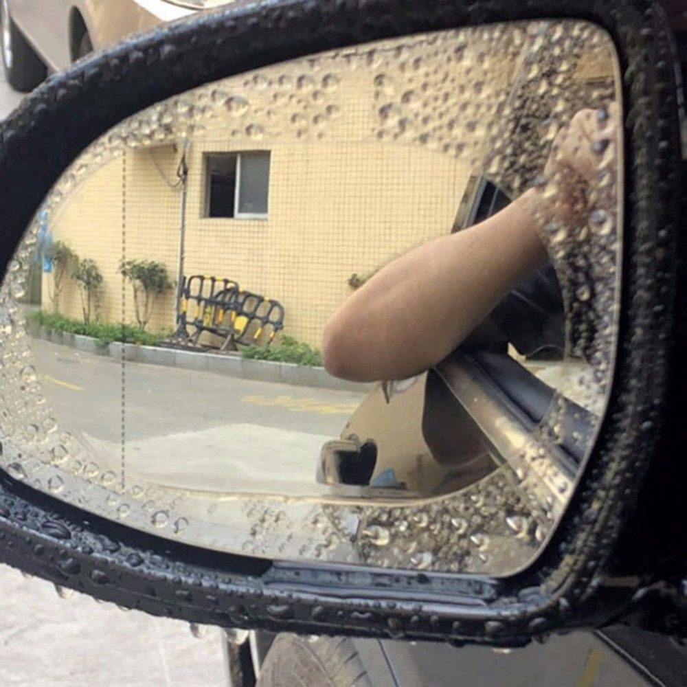 2pcs 14.4x9.7cm Car Rearview Mirror Waterproof Membrane Clear Anti Fog Film Car Bus Screen Protector Automobiles & Motorcycles