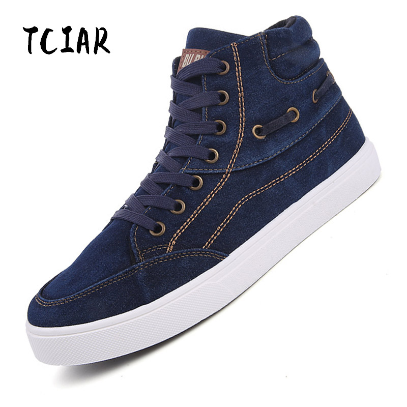 Men Shoes Fashion Spring/Summer Breathable Men Casual Shoes Classic High-top Lace-up Men Canvas Shoes Mens Flats Shoes DX005 new spring summer men casual shoes breathable black high top lace up canvas shoes espadrilles 2018 fashion white men shoes flat