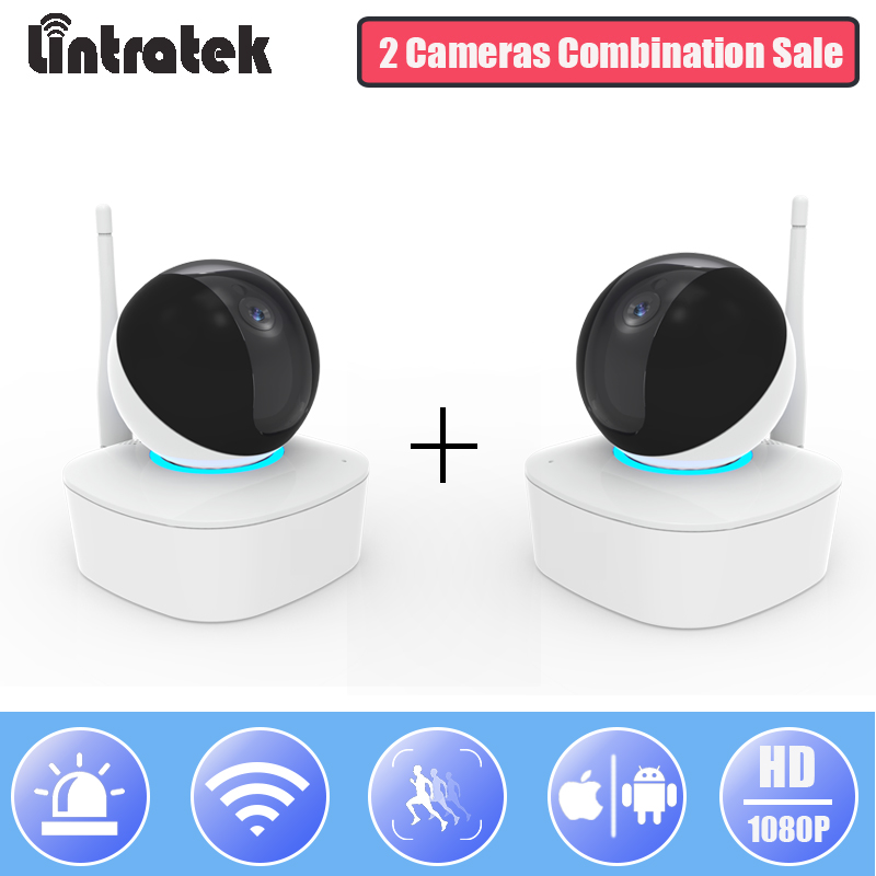 Lintratek WiFi IP Surveillanve Camera HD 1080P Mini Wireless Home Security Cameras for 2 PTZ Wi-fi CCTV Camera Baby Monitor 50pcs m3 iso7380 gb70 2 304 stainless steel a2 round head screws mushroom hexagon socket length 4mm to 25mm