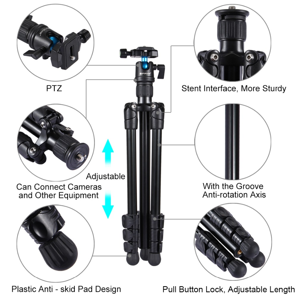 42-130cm Tripods Camera Tripods 4-Section Folding Legs Metal Tripod Mount with 360 Degree Ball Head for DSLR /& Digital Camera Adjustable Height