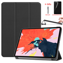 PU Leather Cover Case For ipad pro 12.9 2018 Funda Stand Tablet Auto Wake/Sleep Smart Cover For ipad pro 12.9 2018 12.9