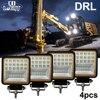 4Pcs Set Led Driving Light 4 3 Inch Flood Beam 12V Led Work Light Bar Angel