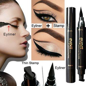 1 Pc Fashion Charming Cat Eye Winged Eyeliner Sexy Eye Cosmetic Seal Stamp Wing Double Head Waterproof Eyeliner Pen Tool Зарядное устройство