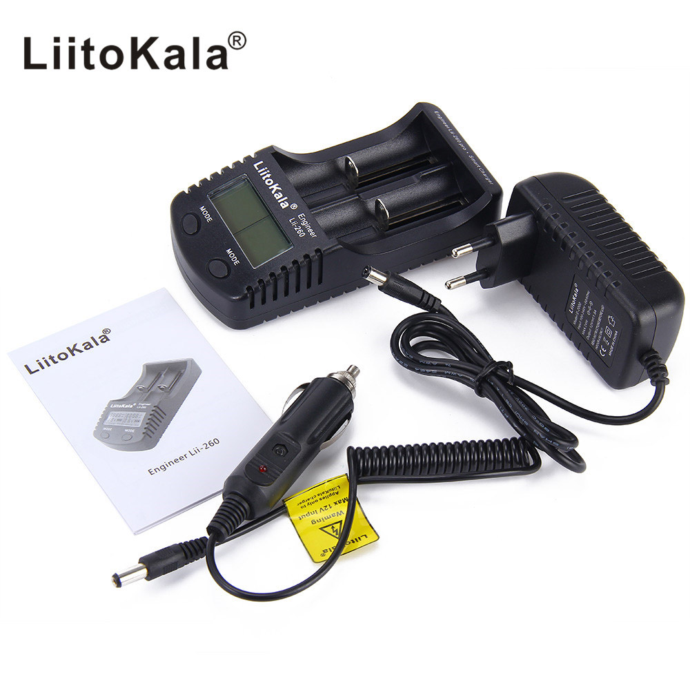 Liitokala lii-260 LCD18650/18500/16340/18350/14500/10440 Battery Charger,Detection of lithium 18650 battery charger lii260