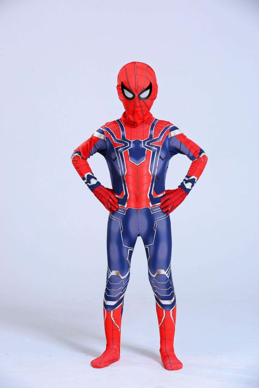 Avengers Iron Spiderman Costume Spider Man Suit Spider-man Halloween Costumes Men Adult Kids Spider-Man Cosplay Clothing