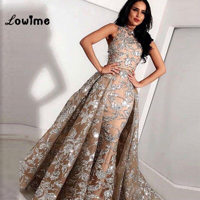 Muslim Evening Dresses Two Pieces Arabic Dress Elegant Turkish