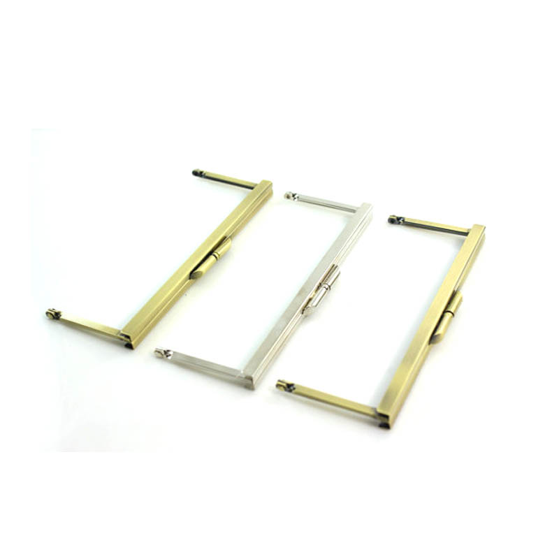 6 3/4 inches (17 x 6.5 cm) - Metal Purse Frame Open Channel Antique Brass Finish