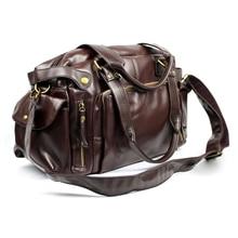 ABDB الذكور حقيبة إنجلترا الرجعية حقيبة يد حقيبة كتف بولي leather جلد الرجال حقيبة ساع العلامة التجارية عالية الجودة الرجال حقائب السفر crossbody