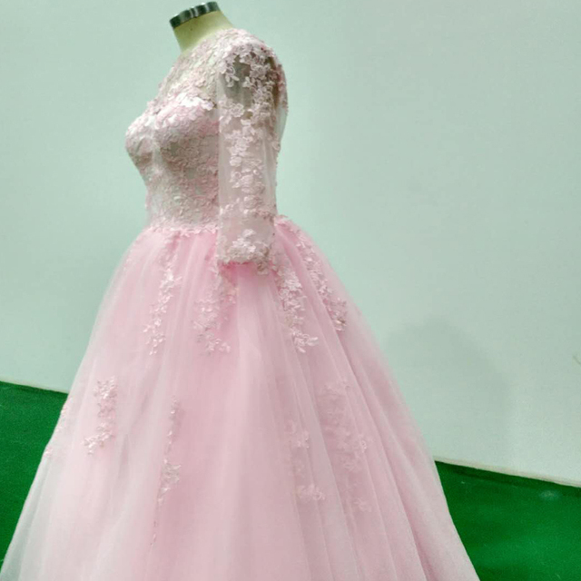 35deb44ccab wuzhiyi 2018 Quinceanera Dresses Custom made pink elegant dress zipper back  Ball Grown 15 years dress 100% true picture dress
