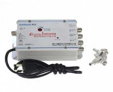 4 Way CATV VCR TV Antenna Signal Amplifier Booster Splitter 30DB 45 880MHz FREQ