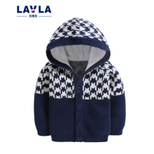 2016 LAVLA Fall New Children Boys Clothing Baby Coat Kids Girl Cardigan Sweater Temperament Casual Wild Hooded Kids Clothes