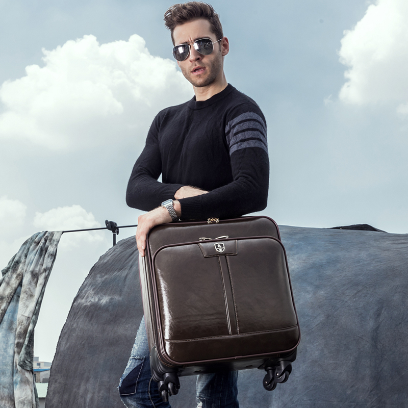 Commercial trolley luggage suitcase 16 luggage password box male universal travel bag lu ...